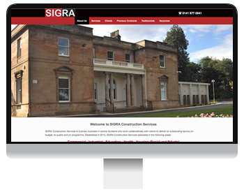 SIGRA constrcution services screenshot